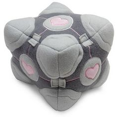 ThinkGeek :: Portal Weighted Companion Cube Plush