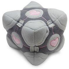ThinkGeek :: Portal Weighted Companion Cube Plush