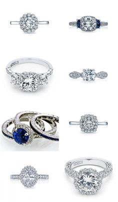 Get Inspired: Sophisticated Tacori Engagement Rings - MODwedding Tacori Rings, Tacori Engagement Rings, Mod Wedding, Wedding Bands, Jewelry Rings, Jewlery, Storybook Wedding, Ring My Bell, Blue Rings