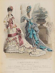 Resultado de imagen para le moniteur de la mode 1870 -1880