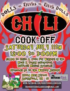 Join The Modified Dolls Oregon Chapter for a Chili cook-off in aid of the Warrior Sisters. For more info, visit the OR dolls event`s page: https://www.facebook.com/events/382979975236715/ Thanks  ‪#‎ModifiedDolls‬ ‪#‎OregonDolls‬ ‪#‎SupportingCharities‬ ‪#‎fundraising‬