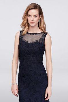 Appliqued Filigree Tulle Mermaid Gown 58670D