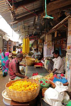 Pondicherry Flower Mart- India