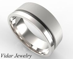Custom Classic Gold Wedding Band For Men's by Vidarjewelry on Etsy, $1699.00