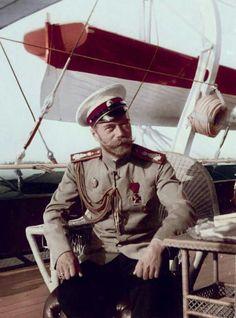 """Tsar Nicholas ll of Russia  (colourised). """"AL"""""""