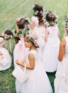 Cute girls on the wedding