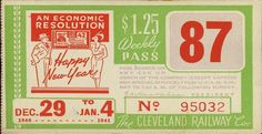 Weekly pass from Cleveland (Ohio) Railway Company (1940-41)