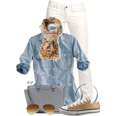"""""""Summer to Fall in Denim"""" by colierollers on Polyvore"""