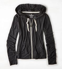 AEO Light Full-Zip Hoodie from American Eagle Outfitters
