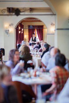 Enjoy authentic regional Italian cuisine at Ristorante Caterina de' Medici, The CIA's Italian restaurant in Hyde Park, NY. Dine in our grand Tuscan-style villa or more casual Al Forno Trattoria. Culinary Chef, Tuscan Style, Hyde Park, Arch, Dining Room, America, Table Decorations, Studio, Dinner Room