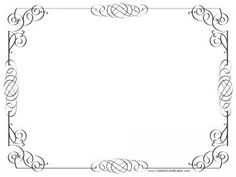 Free print out frames traditional scroll style certificate black and white certificate border yadclub Gallery