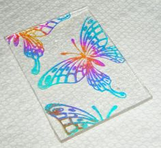 Distracted by Something Shiny: Etching with stamps on Dichroic Glass