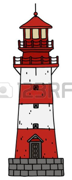 hand drawing of a old lighthouse Stock Vector