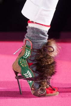 DSquared2. From Tibi in New York to Vionnet in Paris, see all the furry feet walking the runway during fashion month.
