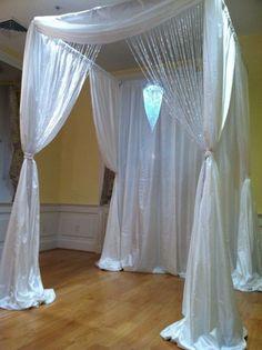 crystal curtain canopy