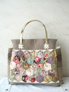 hexagon patchwork bag