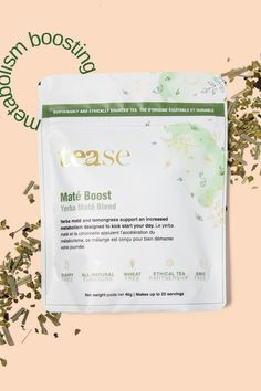 Yerba maté and lemongrass support an increased metabolism designed to kick start your day. This energizing and healthy tea will keep you focused all day. Yerba Mate, Tea Blends, Boost Metabolism, Lemon Grass, Healthy, Design, Health, Lemon Balm