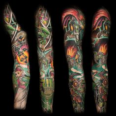 Recently finished me LoZ-themed sleeve! - Imgur