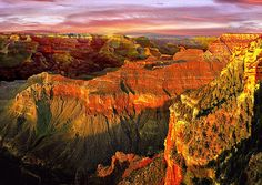 Title  Sunset Grand Canyon Arizona   Artist  Nadine and Bob Johnston   Medium  Photograph - Digital Paintings - Canvas & Prints. Summer Special: Greeting Or Note Cards @ Our Cost - Save Even More 10 Or 25 Packs