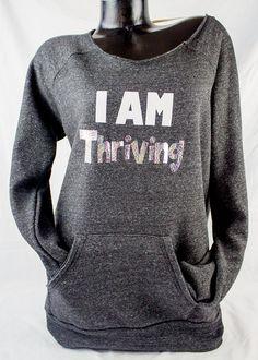 Sample sale, Thrive sweatshirt, I am thriving sample, Thrive shirt by ShoutitOutApparel on Etsy