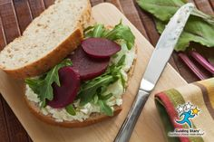 Roasted Beet & Goat Cheese Sandwich | 1 Guiding Star