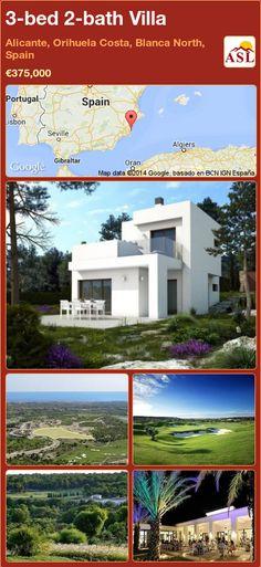 3-bed 2-bath Villa in Alicante, Orihuela Costa, Blanca North, Spain ►€375,000 #PropertyForSaleInSpain