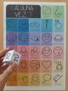 Juego para practicar Pretéritos, adverbios, vocabulario y preposiciones.