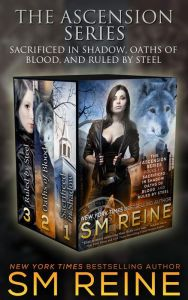 The Ascension Series: Books 1–3 By SM Reine - These three fantasy novels follow Elise Kavanagh — a legendary and powerful demon hunter who will do anything to save the world. But what if that means losing her friends, her lover, and her soul?