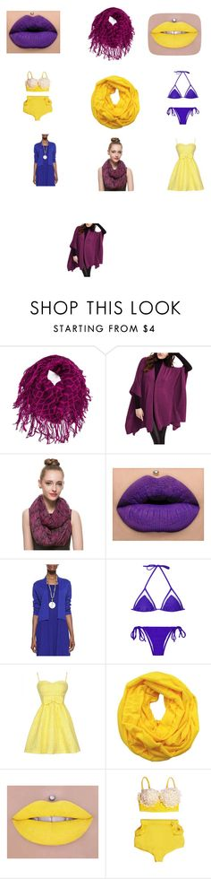 """""""Split Complementary Inspiration Board"""" by caitcce on Polyvore featuring Eileen Fisher, yellow, redviolet, SplitComplementary and BlueViolet"""
