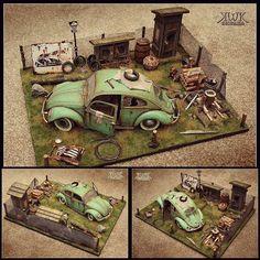 Nice diorama!!! Modeler Werner Kuehn Koditek #scalemodel #scalemodelcar #beetle #car #coche #vw #volks #rust #ferrugem #diorama #hobby #miniatura #miniature #plasticmodel #plastimodelo #plastickits #miniatur #usinadoskits #udk #modelismo #modelism #modelisme #plamodel