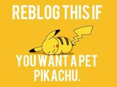 Pickachu - I can use thunderbolt against people I dont like......