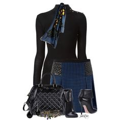 Houndstooth Skirt, created by jackie22 on Polyvore