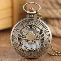 Quartz Pocket Watch, Quartz Watch, Constellations, Men Necklace, Pendant Necklace, Necklace Chain, Armani Watches For Men, Pocket Watch Necklace