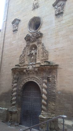 Portada de la Iglesia del Carmen en #ALCAÑIZ #TERUEL