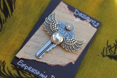 Metal Statement Pin , steampunk style, Dreams from my Expressions line. on Etsy, $10.00