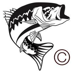 Jumping bass fish clip art clipart panda free clipart for Big fish theory vinyl