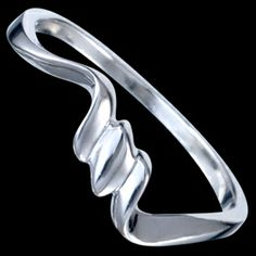 Sterling silver ring, triple wave