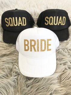 8987c8ba623 Bachelorette Party Squad hats/ Bachelorette party favor / Bride / #VACAY /  TRIBE / Squad Glitter / Trucker Hat Neon colors/ Girls Weekend