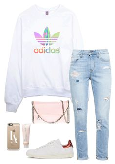 """""""LIGHT"""" by eellcat ❤ liked on Polyvore featuring adidas, Paige Denim, STELLA McCARTNEY, Isabel Marant, Casetify and Aveda"""