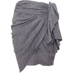 Pre-owned Isabel Marant Gathered Skirt ($99) ❤ liked on Polyvore featuring skirts, grey, gathered skirt, gray skirt, tie-dye skirt, grey skirt and grey wrap skirt