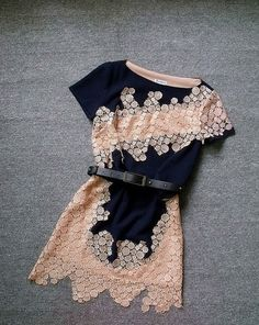 Embroidered Slim Irregular Dress - I'd love this with ankle tights and cute dressy ballet flats for an evening out! Beauty And Fashion, Look Fashion, Passion For Fashion, Womens Fashion, Cheap Fashion, Fashion Spring, Blue Fashion, Curvy Fashion, Affordable Fashion