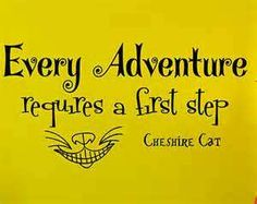 Cheshire cat quote on foot