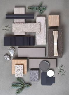 Mood Board Interior, Interior Design Boards, Moodboard Interior Design, Interior Design Color Schemes, Colour Schemes, Material Board, Japanese Interior, Wabi Sabi, Colorful Interiors