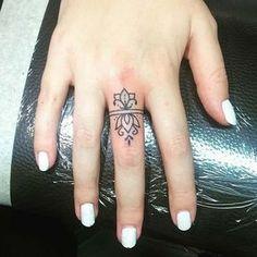 21 Cool and Trendy Tiny Tattoo Ideas: #12. STYLISH FINGER TATTOO; #tattoos #ILoveTattoos!