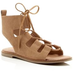 Matisse Shells Lace Up Gladiator Flat Sandals (4,595 DOP) ❤ liked on Polyvore featuring shoes, sandals, natural, tie gladiator sandals, matisse footwear, laced up flat sandals, flat shoes and flat sandals
