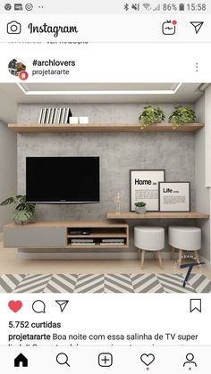 New Living Room Tv Wall Decor Ideas Budget Ideas Living Room Tv Unit, Home Living Room, Apartment Living, Interior Design Living Room, Living Room Designs, Apartment Ideas, Apartment Layout, Small Living Rooms, Living Room Ideas Tv Wall
