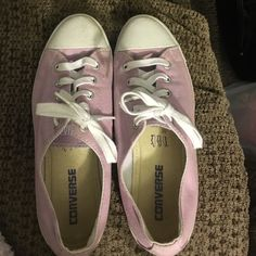 Converse slims (lavender) Barely worn. Size 7.5. Will be washed before selling. Converse Shoes Sneakers