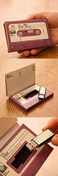 Do you remember the days when we used to create special little Mixtapes for friends?  Here's a gorgeous packaging concept for 'gift' USB Sticks which evokes memories of those beloved old cassettes whilst taking advantage of current technology.  If you're a business owner in search of ideas for creative packaging, it's worth remembering that a warmly nostalgic 'retro' element can make a bigger physical impact in an increasingly digital landscape…