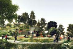 In Manhattan is geen plaats meer, dus bouwt New York maar een nieuw park in de Hudson