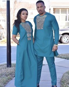 Image may contain: 2 people, people standing African Wear Styles For Men, African Shirts For Men, African Attire For Men, African Clothing For Men, Ankara Clothing, Couples African Outfits, African Dresses Men, Latest African Fashion Dresses, African Print Fashion